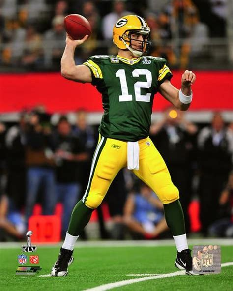Green Bay Packers Aaron Rodgers Super Bowl Xlv Nfl