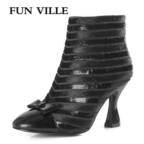 Fun Ville Autumn Winter New Fashion Women Ankle Boots
