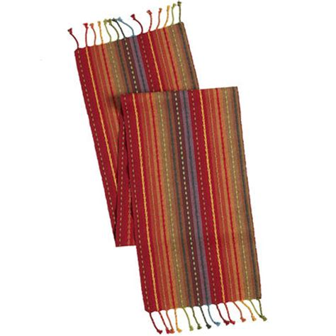 pier one imports table runners multi stripe table runner with fringe end pier 1 imports