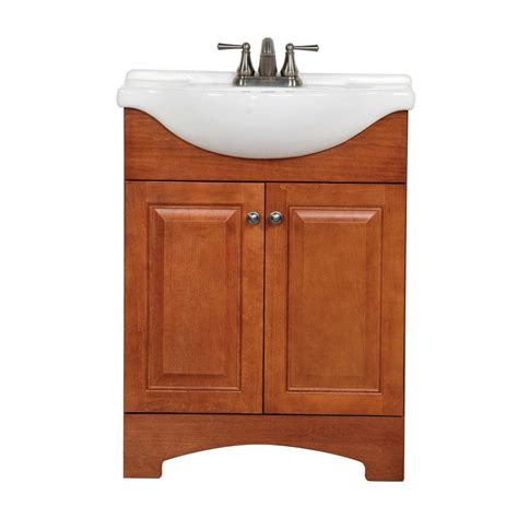glacier bay bathroom sinks glacier bay chelsea 25 in vanity in nutmeg with porcelain