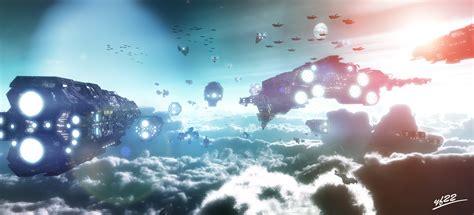 UNSC Fleet 3d cgi fan art by styf22 on DeviantArt