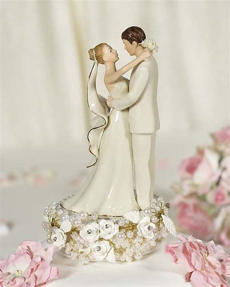 vintage pearl wedding cake topper wedding collectibles