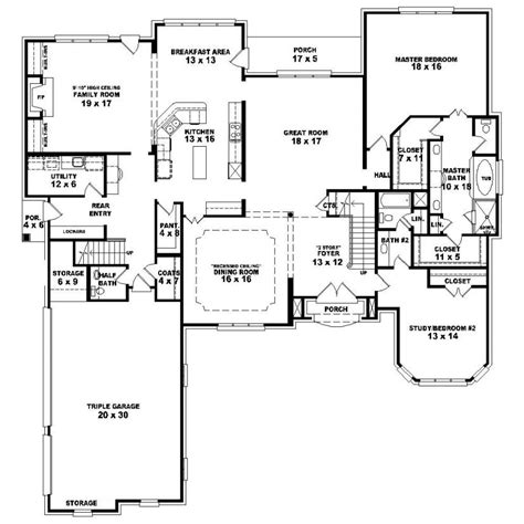 single 5 bedroom house plans 653924 1 5 4 bedroom 4 5 bath country