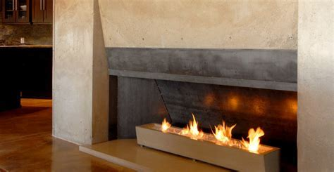 Concrete Fireplace by Architectural Concrete Interiors