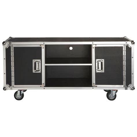 meuble de rangement chambre garcon meuble tv à roulettes en textile enduit l 130 cm cinéma