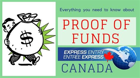 proof  funds  express entry  canada pr youtube