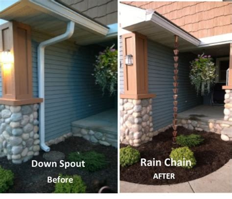 gutter chain drain exterior updates chains drain tile pop up drains 1522