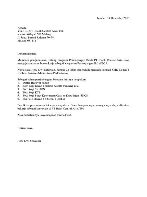 10+ Contoh Surat Permohonan Magang / Prakerin yang Baik