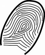 Fingerprint Clip Clipart Clker Svg Vector Stefan Domain sketch template