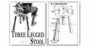 Three Legged Stool Plans • WoodArchivist