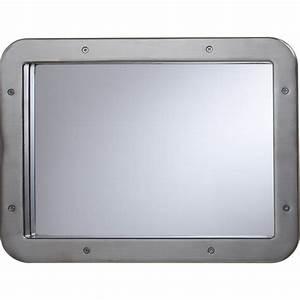 hublot de porte en metal rectangle nickel satine 31 x 41 With hublot pour porte de garage castorama