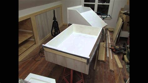 upstairs remodeling knee wall drawer painting youtube