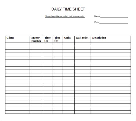 Time Sheet Template For All Employees Word by Awe Inspiring Daily Or Weekly Employee Timesheet Template