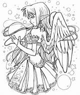 Coloring Pages Fairy Adult Anime Adults sketch template