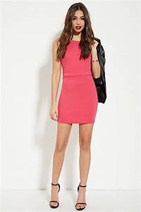 forever 21 backless sheath dress in pink lyst With forever 21 wedding guest dresses