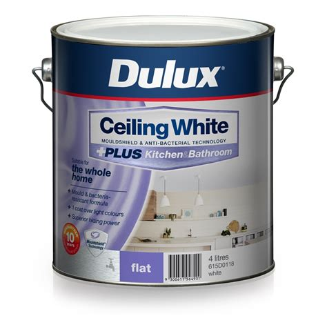 Bathroom Paint Anti Mold by Dulux White Ceiling Plus Kitchen And Bathroom Paint 4l
