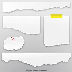 Collection of torn paper sheets Vector | Free Download