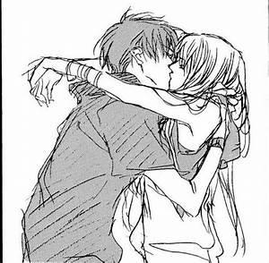 boy and girl, hug, kiss, love, manga - image #310020 on ...