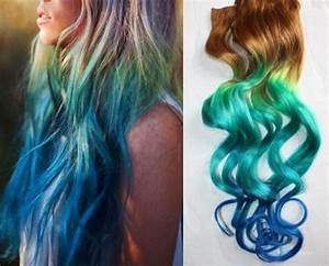Items similar to Mermaid Clip In Hair Extensions, Ombre ...