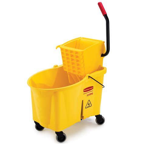 rubbermaid   wavebrake side press combo mop bucket