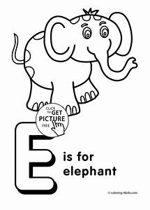 Letter E Coloring Pages Of Alphabet E Letter Words For Kids Printable Alphabet Coloring