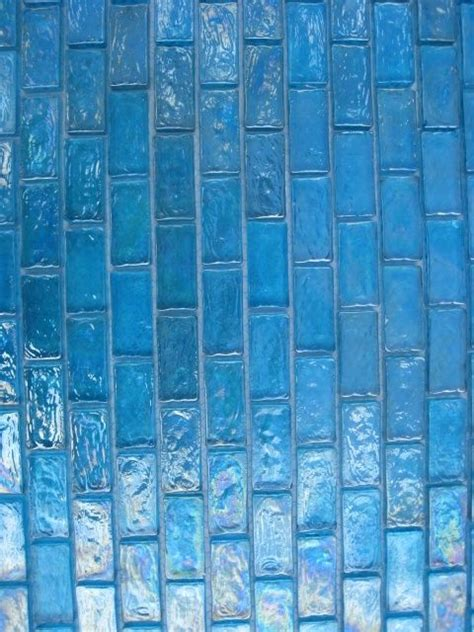 turquoise iridescent subway mosaic glass tile