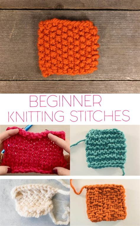 knitting basics 5 basic knitting stitches for beginners gina michele