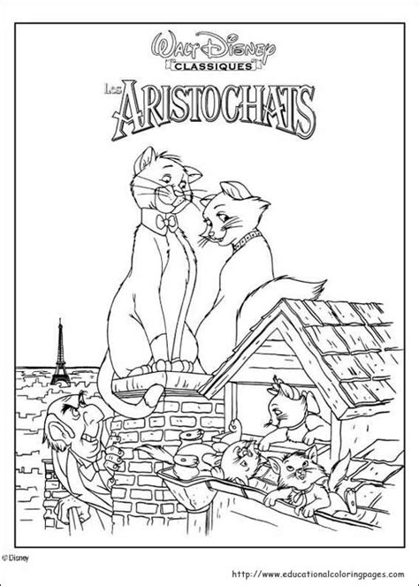 aristocats coloring pages educational fun kids coloring pages  preschool skills worksheets