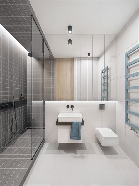 Modern Bathroom Design With Shower by Trendy Bathroom Designs Combined With Modern And Geometric
