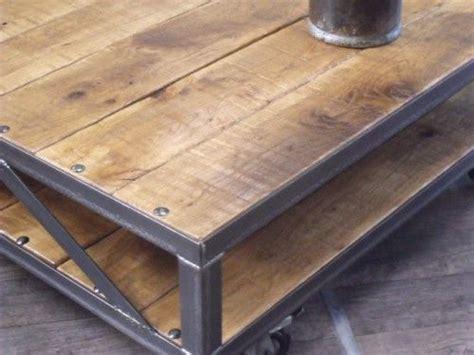 table basse industrielle table basse loft table basse bois m 233 tal table basse sur mesure