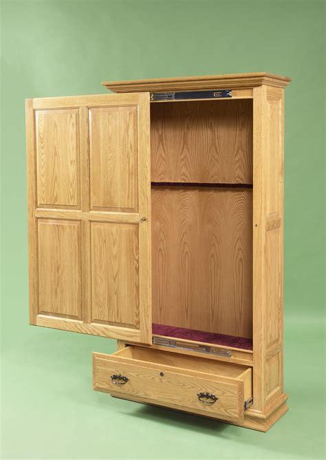 gun cabinet plans    woodworking