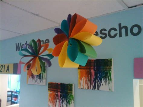 project decoration birthday decorations construction paper flower it can be use for a party