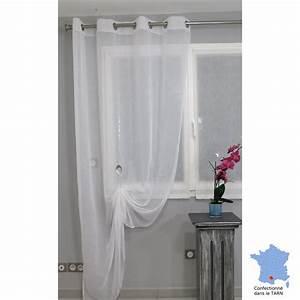 Rideaux Ruflette Pret Poser : voilage pr t poser puygouzon blanc 150 x 245 cm l ~ Teatrodelosmanantiales.com Idées de Décoration
