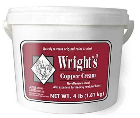 wrights copper  brass cream cleaner  lbs gently