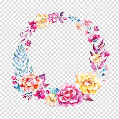 wedding invitation logo flower garland wreath beautiful