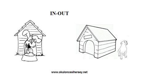 pre school education 156 | in and out opposite words worksheets for preschool children