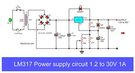 First Variable Power Supply Using Eleccircuit