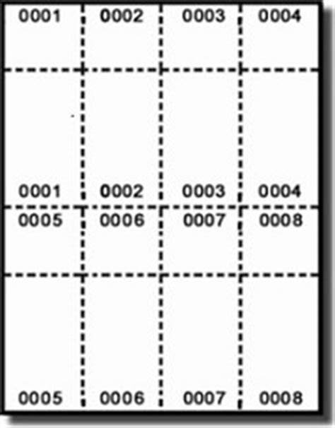 numbered laser  inkjet raffle  event