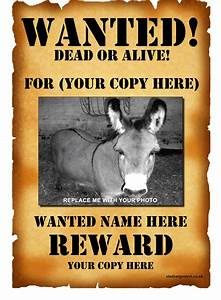 wanted poster template 1 positively printable With wanted dead or alive poster template free