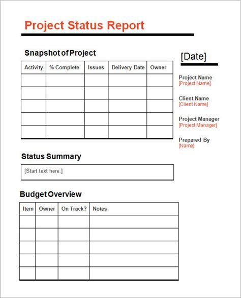 sample status report template   documents