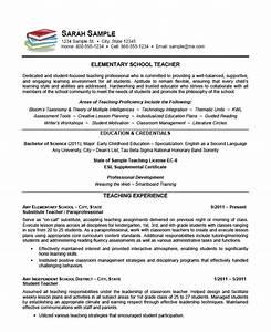 elementary school teacher resume example sample With elementary teacher resume