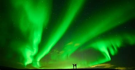 golden circle aurora surprise northern lights minibus