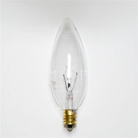 sunlite 15w 120v candelabra base torpedo clear bulbs ebay