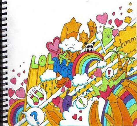 grafiti   cartoon graffiti sketches sweet rainbow