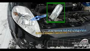 Replace Headlight Position Bulb Fiat Grande Punto 2005