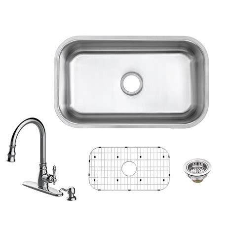 glacier bay all in one kitchen sink glacier bay all in one undermount 18 stainless steel 9224