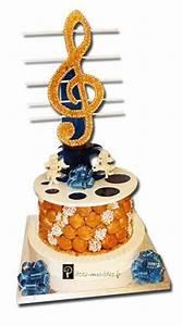 Musique Arrivée Gateau Mariage : gateau mariage piece montee musique instrument mariage en 2019 gingerbread cookies desserts ~ Melissatoandfro.com Idées de Décoration