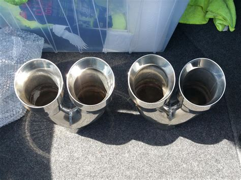 closed stainless steel dual exhaust tips   acura