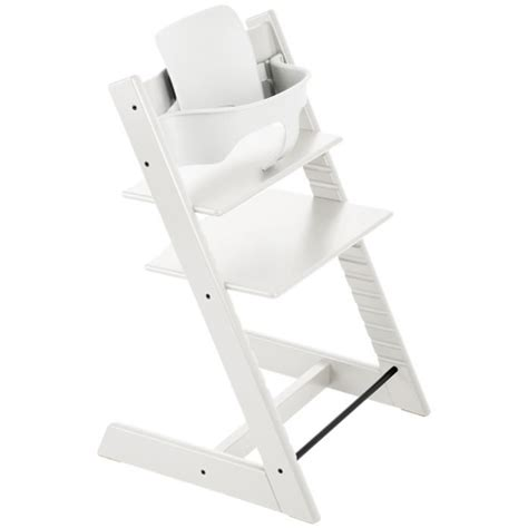 stokke tripp trapp high chair baby set white