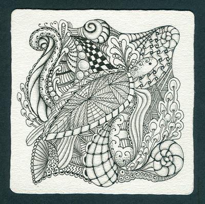 zentangle tile template zentangle sea inches ink graphite on zentangle paper tile zen tangle